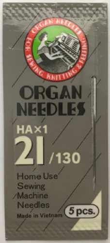 Organ Sewing Machine Needles Size 21/130 - Pkt of 5